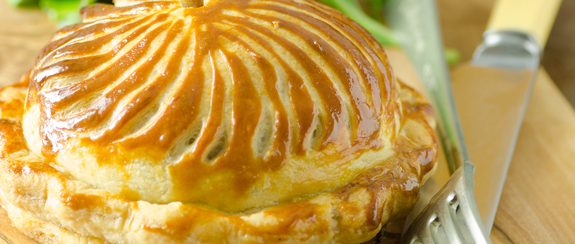 Leek and smoked cheese pithivier