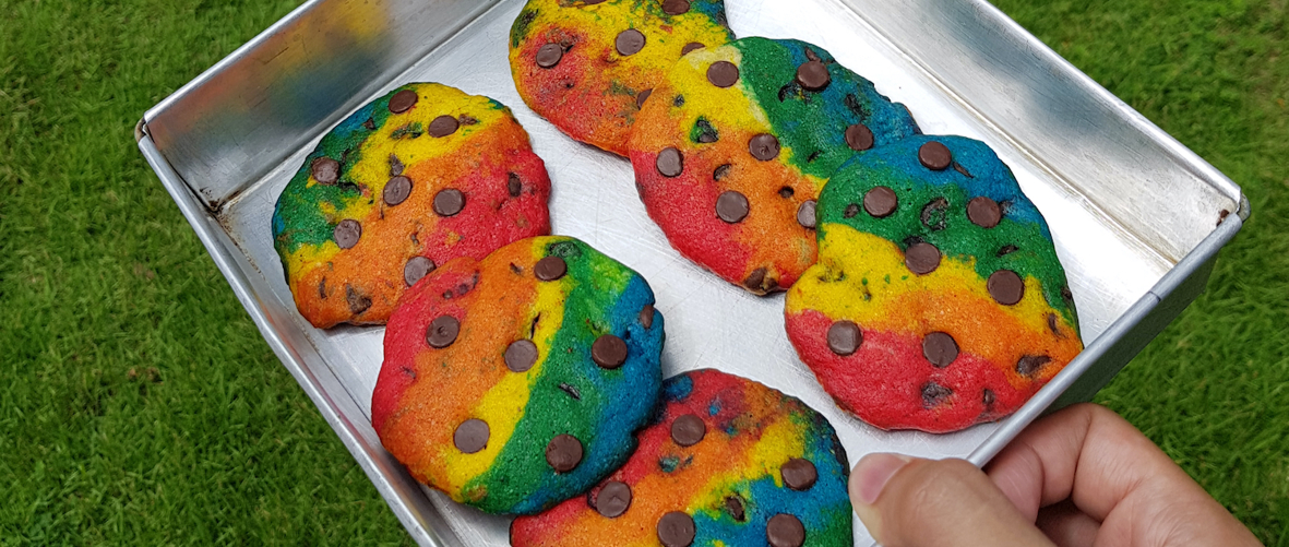 Rainbow or Confetti Cookies