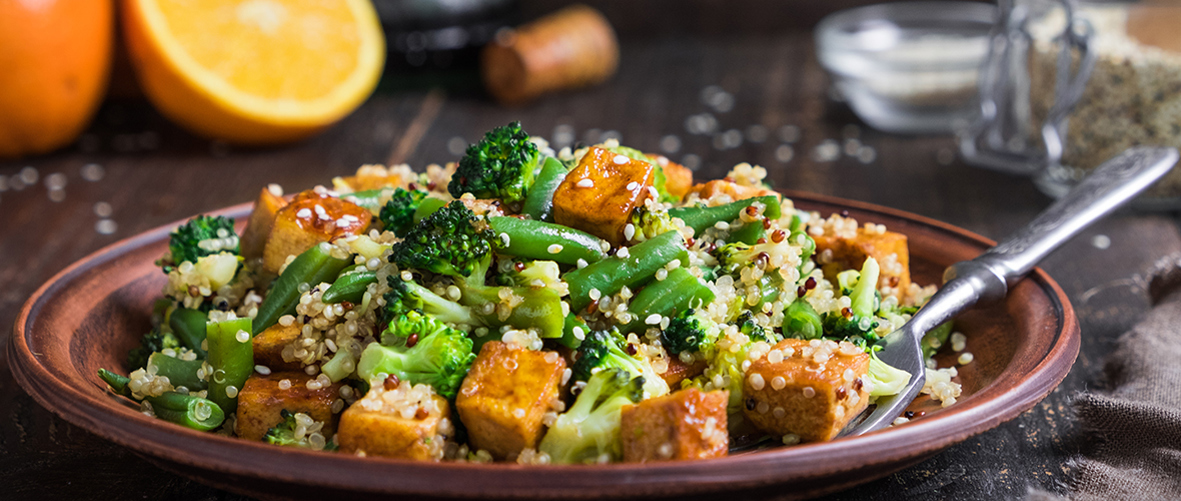 Quinoa and roast sweet potato