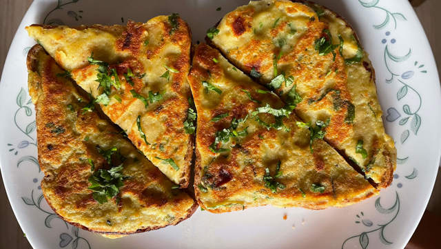 Eggless Eggy bread
