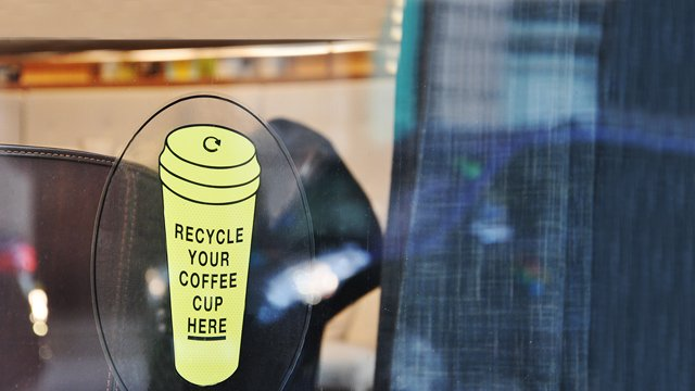 Recycle disposable coffee cups