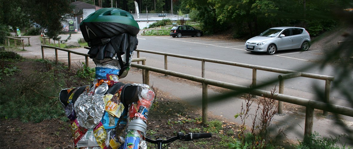 Can an unusual biker brake the cycle of litter?