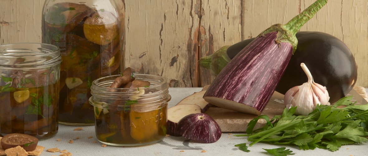 Maria's aubergines in oil