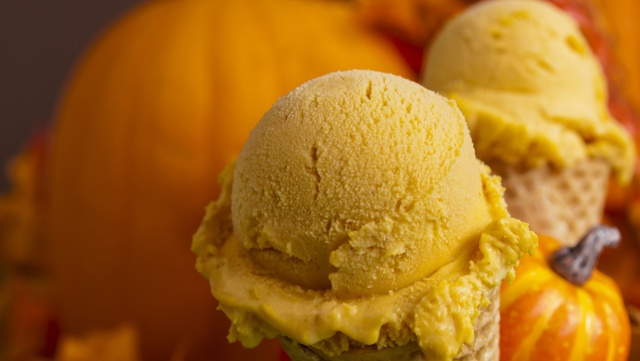 Miso and maple pumpkin pie ice cream
